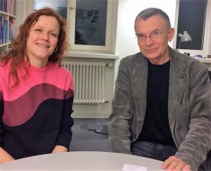 Beim Gespräch: Prof. Dr. Klaus Hurrelmann und ich