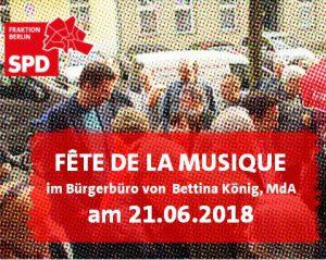Fête de la Musique & Bürgersprechstunde @ Bürgerbüro Bettina König, MdA | Berlin | Berlin | Deutschland