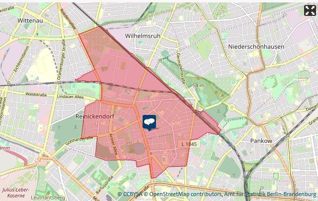 Der Wahlkreis Reinickendorf-Ost